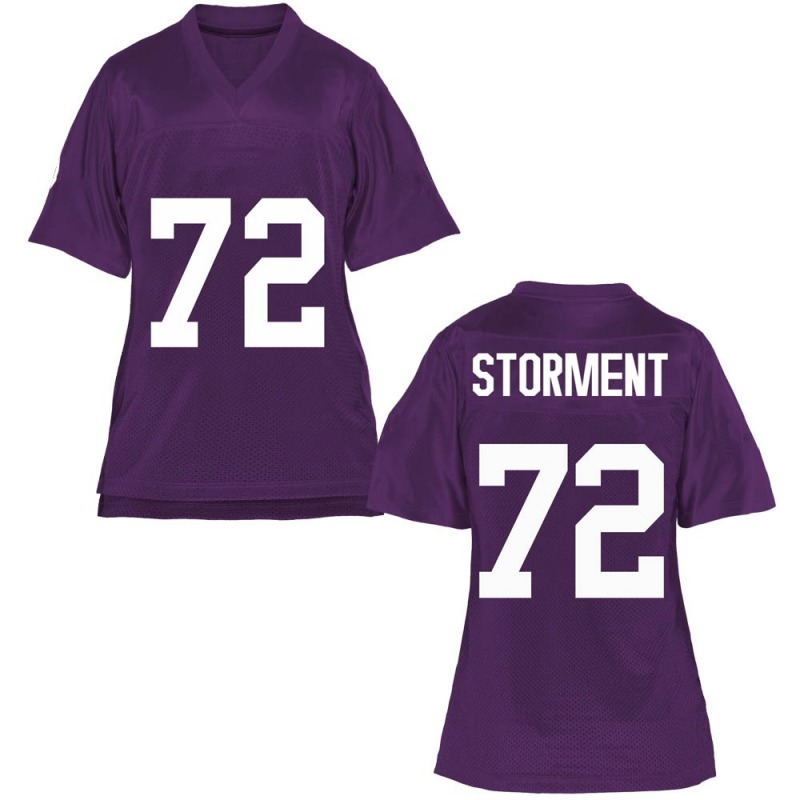 Game Women's T.J. Storment TCU Horned Frogs Purple Football College Jersey