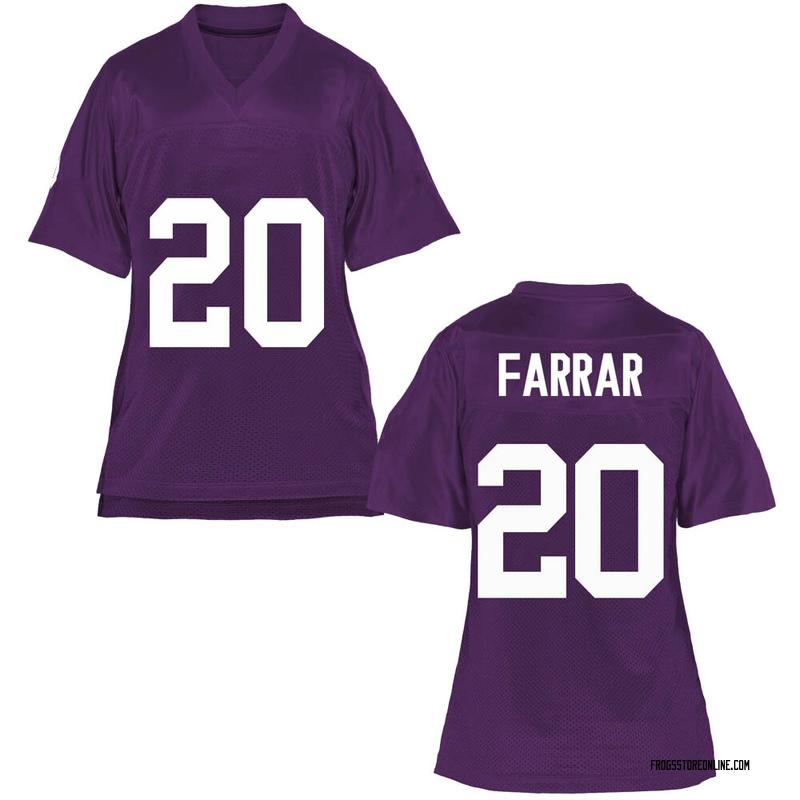 Game Women's Zach Farrar TCU Horned Frogs Purple Football College Jersey