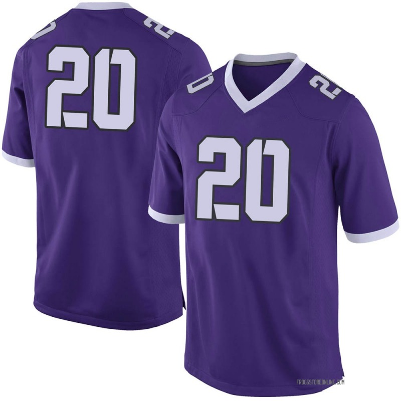 Limited Men's Zach Farrar TCU Horned Frogs Purple Football College Jersey