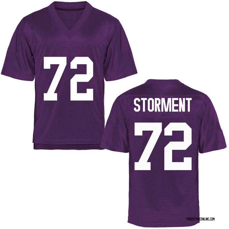 Replica Men's T.J. Storment TCU Horned Frogs Purple Football College Jersey