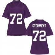 Replica Women's T.J. Storment TCU Horned Frogs Purple Football College Jersey