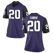 Replica Women's Zach Farrar TCU Horned Frogs Purple Football College Jersey