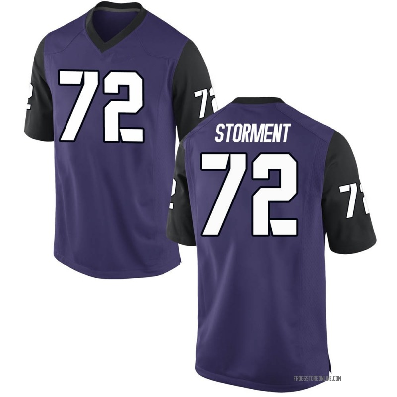 Replica Youth T.J. Storment TCU Horned Frogs Purple Football College Jersey